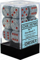 12 Air Speckled 16mm d6 Dice- CHX25700