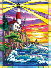 Dolphin Bay Lighthouse 300 pc Puzzle