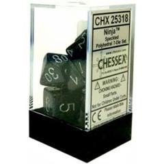 CHX 25318 - 7 Polyhedral Ninja Speckled Dice