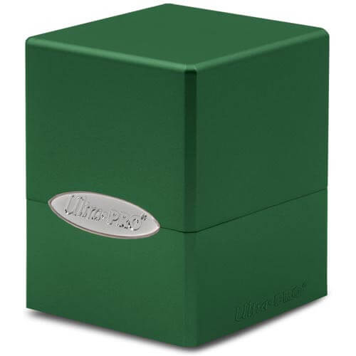 Satin Cube: Forest Green