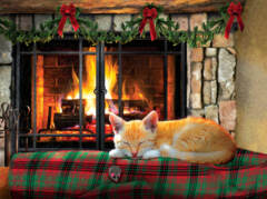 Fireside Snooze 500pc Puzzle