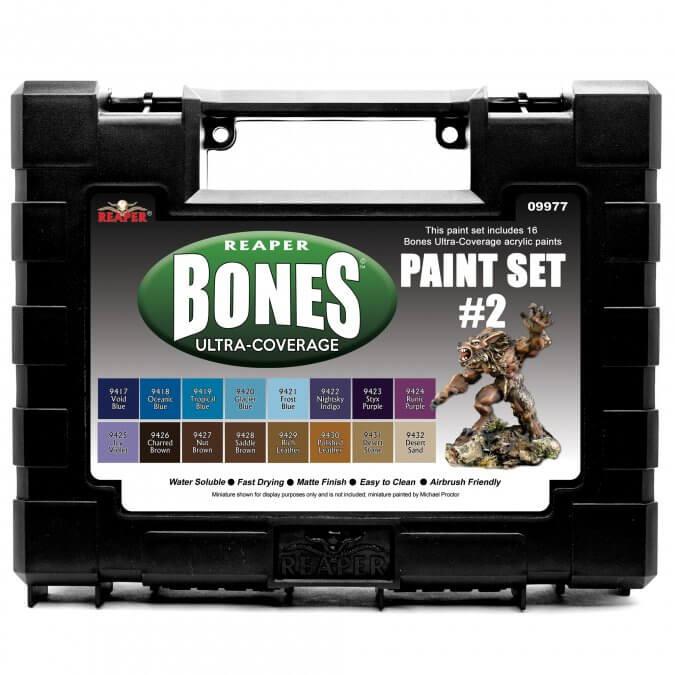09977 - Reaper Bones Ultra-Coverage Paint Set #2