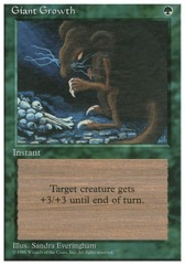 Giant Growth - 3rd Edition - Black Border