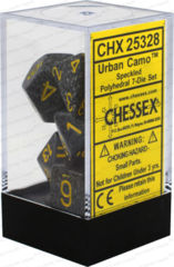 CHX 25328 - 7 Polyhedral Urban Camo Speckled Dice