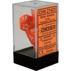 CHX 27423 - 7 Polyhedral Solar w/ White Vortex Dice