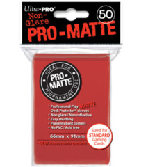 Ultra Pro: Standard Sleeves - Matte Red (50)