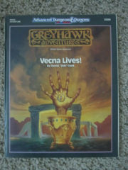 ADVANCED DUNGEONS & DRAGONS GREYHAWK ADVENTURES VECNA LIVES! 9309 D&D TSR 1990
