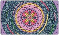 Stained Glass Circle Playmat mat75