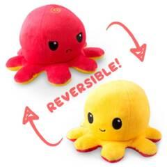 Reversible Octopus Mini Plush: Red // Yellow