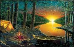 Evening by the Lake 550 pc Puzzle