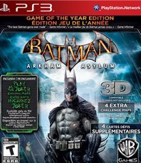 Batman Arkham Asylum: Game of the Year Edition.
