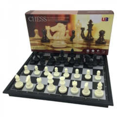 Folding Magnetic Chess and Checkers Set