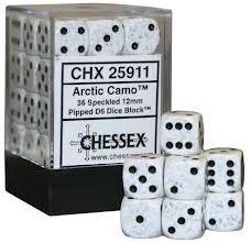 CHX 25911 - 36 Arctic Camo Speckled 12mm d6 Dice