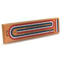 3-Track Color-Coded Cribbage Board
