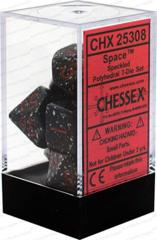 CHX 25308 - 7 Polyhedral Space Speckled Dice