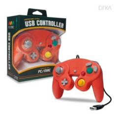 Premium GameCube-Style USB Controller for PC/ Mac (Crimson Red) - CirKa