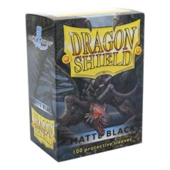Dragon Shield: Standard Sleeves - Black Matte (100ct)