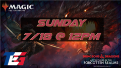 Sunday 7/18 Adventures in the Forgotten Realms Prerelease 12PM