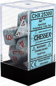 CHX 25300 - 7 Polyhedral Air Speckled Dice