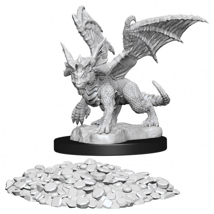 Dungeons & Dragons Nolzur`s Marvelous Unpainted Miniatures:  Blue Dragon Wyrmling
