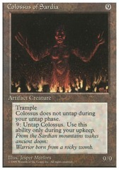 Colossus of Sardia - 4th Edition - Black Border