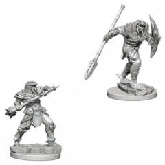 Dungeons & Dragons Nolzur`s Marvelous Unpainted Miniatures: Dragonborn Male Fighter with Spear