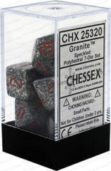 CHX 25320 - 7 Polyhedral Granite Speckled Dice