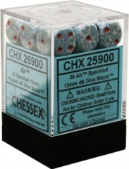 CHX 25900 - 36 Air Speckled 12mm d6 Dice