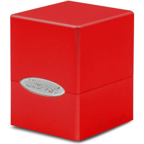Satin Cube: Apple Red