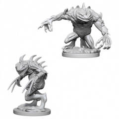 Dungeons & Dragons Nolzur`s Marvelous Unpainted Miniatures: Grey Slaad and Death Slaad