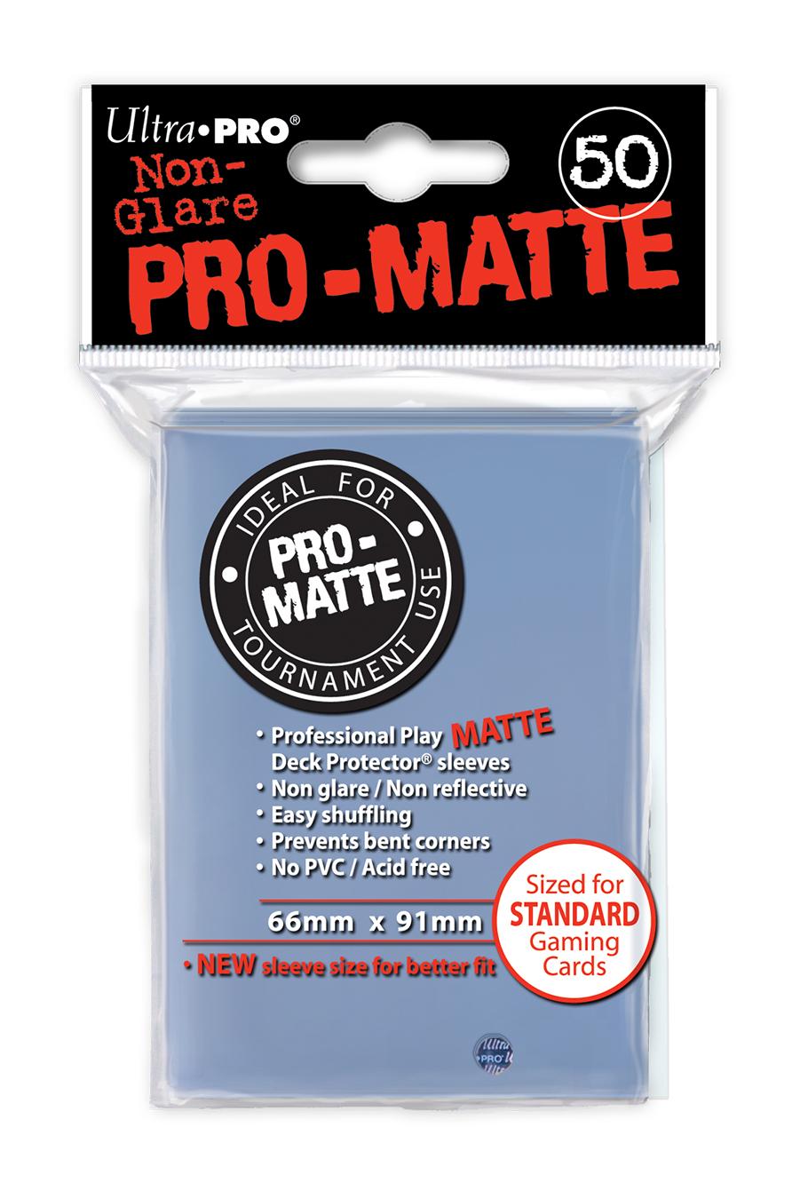 Ultra Pro Standard Sleeves - Matte Clear (50ct)