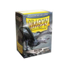 Dragon Shield: Standard Non-Glare Sleeves - Silver Matte (100ct)