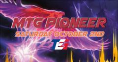Pioneer Tournament - Saturday October 2nd