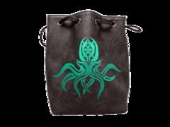 Black Cthulhu Leather-lite Dice Bag