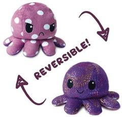 Reversible Octopus Mini Plush: Polka Dot // Shimmer