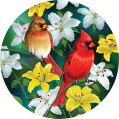 Cardinals in the Round 500pc Puzzle