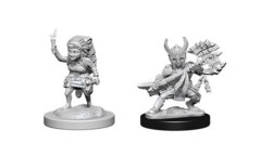 Dungeons & Dragons Nolzur`s Marvelous Unpainted Miniatures: Halfling Female Fighter