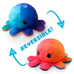 Reversible Octopus Mini Plush: Sunset // Mermaid