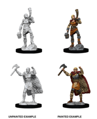 Dungeons & Dragons Nolzur`s Marvelous Unpainted Miniatures: Human Female Barbarian