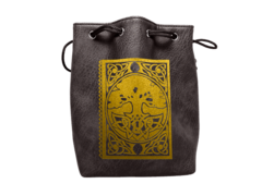 Black Leather Spell Book Dice Bag