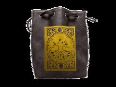 Black Leather Spellbook Dice Bag