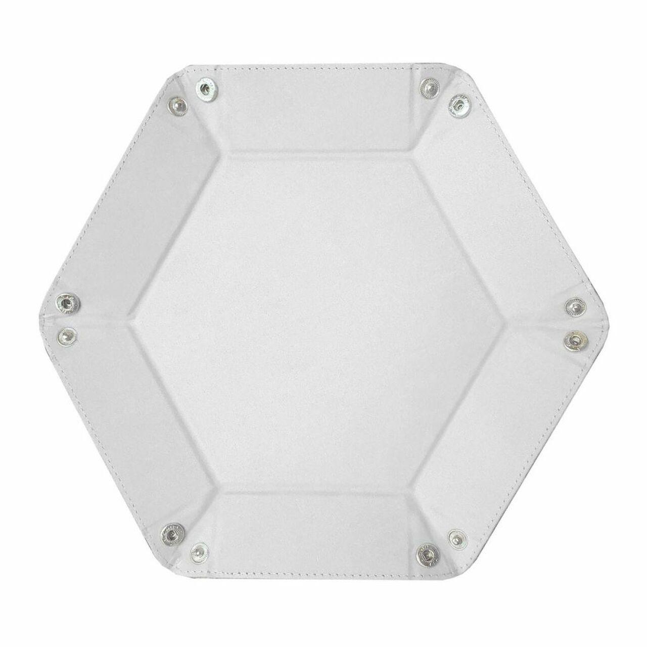 White Hexagon Dice Tray