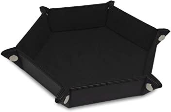 Black Hexigon Dice Tray
