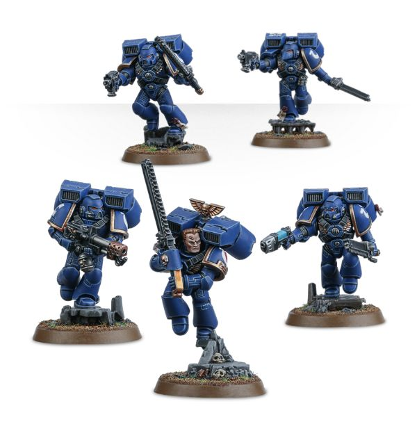 Space Marine Command Squad Legs A