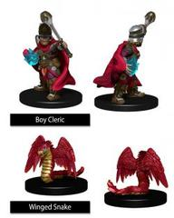 WizKids Wardlings: Boy Cleric With Winged Snake