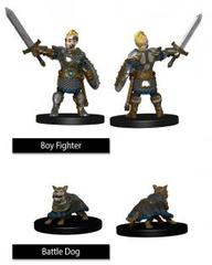 WizKids Wardlings: Boy Fighter With Battle Dog