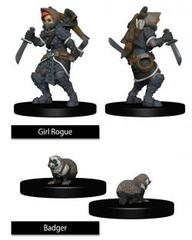 WizKids Wardlings: Girl Rogue With Badger