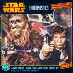 Photomosaic - Han Solo and Chewbacca Puzzle (1000 pieces)