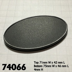 Reaper Base Boss: 75mm x 46mm Oval Gaming Base (10)