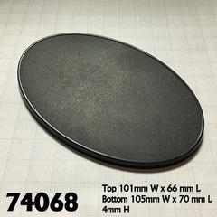 Reaper Base Boss: 105mm x 70mm Oval Gaming Base (4)